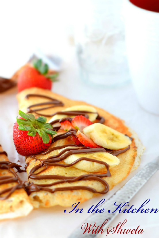 Strawberry Nutella Crepes | In the kitchen with Shweta
